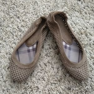 Burberry Perforated suede ballet flats